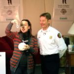 """WGN Morning Show """"Around Town"""" host Ana Belaval discusses fire sprinklers with Bartlett FPD Fire Marshal Mike Figolah in 2013."""